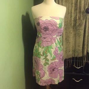 Ann Taylor Strapless Floral Dress